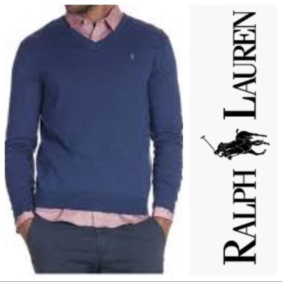 Polo by Ralph Lauren Other - Polo Ralph Lauren Merino Wool V Neck Sweater